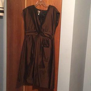 Bronze/brown satin formal dress